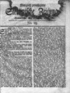 Stettinische Zeitung. Königlich privilegirte 1769, Nr 28