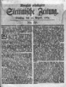 Stettinische Zeitung. Königlich privilegirte 1769, Nr 67