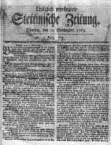 Stettinische Zeitung. Königlich privilegirte 1769, Nr 73