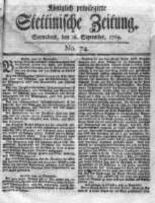 Stettinische Zeitung. Königlich privilegirte 1769, Nr 74