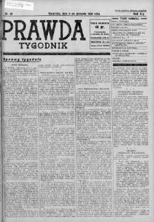 Tygodnik Prawda 5 sierpień 1934 nr 32