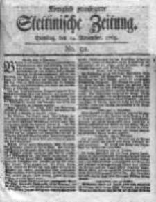 Stettinische Zeitung. Königlich privilegirte 1769, Nr 91