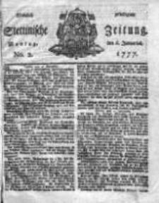 Stettinische Zeitung. Königlich privilegirte 1777, Nr 2
