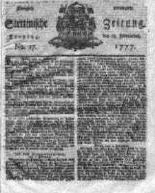 Stettinische Zeitung. Königlich privilegirte 1777, Nr 17