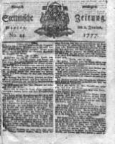 Stettinische Zeitung. Königlich privilegirte 1777, Nr 44
