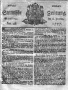 Stettinische Zeitung. Königlich privilegirte 1777, Nr 48