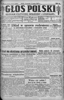 Głos Polski : dziennik polityczny, społeczny i literacki 3 luty 1927 nr 33