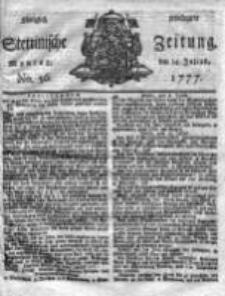 Stettinische Zeitung. Königlich privilegirte 1777, Nr 56