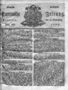 Stettinische Zeitung. Königlich privilegirte 1777, Nr 77