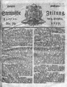 Stettinische Zeitung. Königlich privilegirte 1777, Nr 79