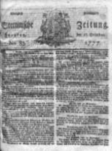 Stettinische Zeitung. Königlich privilegirte 1777, Nr 83