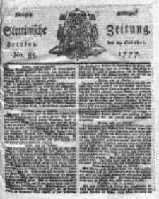 Stettinische Zeitung. Königlich privilegirte 1777, Nr 85