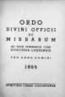 Ordo Divini Officii ac Missarum ad usum Vernerabilis Cleri Dioecesis Lodzensis pro Anno Domini 1955