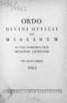 Ordo Divini Officii ac Missarum ad usum Vernerabilis Cleri Dioecesis Lodzensis pro Anno Domini 1963