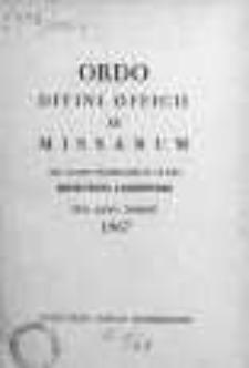 Ordo Divini Officii ac Missarum ad usum Vernerabilis Cleri Dioecesis Lodzensis pro Anno Domini 1967