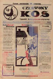 Czerwony Kos : gwiżdże co sobotę i wygwizduje wszystko 1931 nr 9