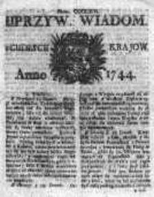 Uprzywilejowane Wiadomości z Cudzych Krajów 1744, Nr 363