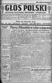 Głos Polski : dziennik polityczny, społeczny i literacki 15 luty 1927 nr 45