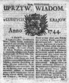 Uprzywilejowane Wiadomości z Cudzych Krajów 1744, Nr 388
