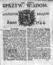Uprzywilejowane Wiadomości z Cudzych Krajów 1744, Nr 407