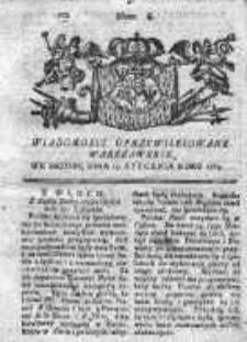 Wiadomości Uprzywilejowane Warszawskie 1763, Nr 6