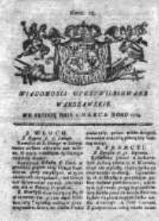 Wiadomości Uprzywilejowane Warszawskie 1763, Nr 18