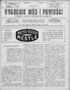 Tygodnik Mód i Powieści. Pismo ilustrowane dla kobiet 1910, Nr 46