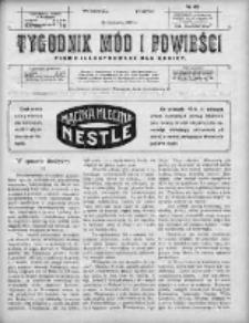 Tygodnik Mód i Powieści. Pismo ilustrowane dla kobiet 1910, Nr 48