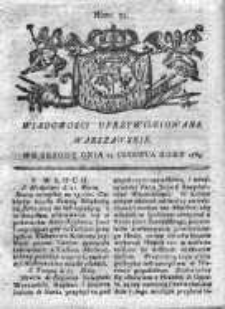 Wiadomości Uprzywilejowane Warszawskie 1763, Nr 52