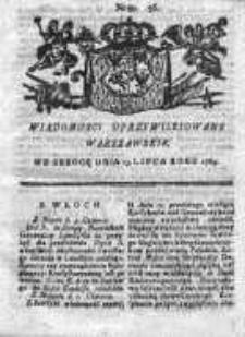Wiadomości Uprzywilejowane Warszawskie 1763, Nr 56