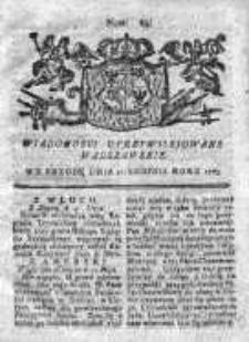 Wiadomości Uprzywilejowane Warszawskie 1763, Nr 64