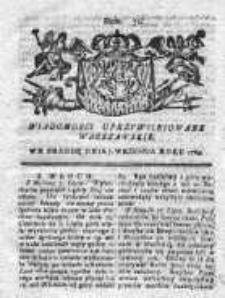 Wiadomości Uprzywilejowane Warszawskie 1763, Nr 72