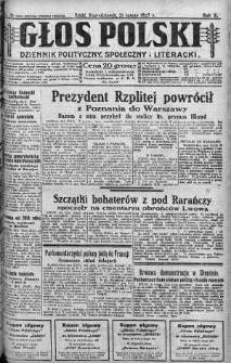 Głos Polski : dziennik polityczny, społeczny i literacki 21 luty 1927 nr 51