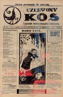 Czerwony Kos : gwiżdże co sobotę i wygwizduje wszystko 1931 nr 22