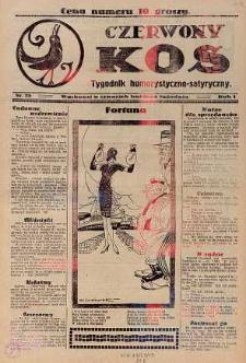 Czerwony Kos : gwiżdże co sobotę i wygwizduje wszystko 1931 nr 25