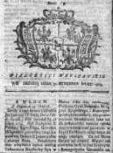 Wiadomości Warszawskie 1765, Nr 9