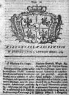 Wiadomości Warszawskie 1765, Nr 10
