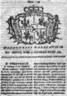 Wiadomości Warszawskie 1765, Nr 15