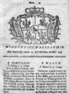 Wiadomości Warszawskie 1765, Nr 29