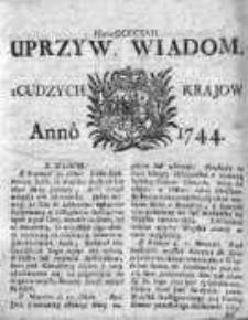 Uprzywilejowane Wiadomości z Cudzych Krajów 1744, Nr 417