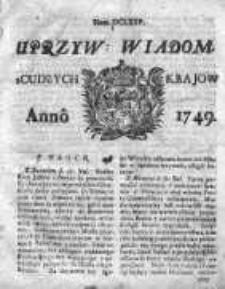 Uprzywilejowane Wiadomości z Cudzych Krajów 1749, Nr 675