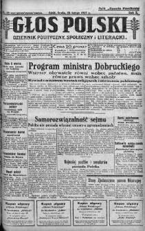 Głos Polski : dziennik polityczny, społeczny i literacki 23 luty 1927 nr 53