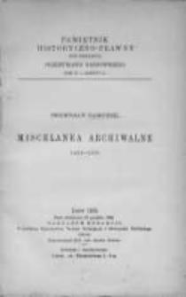 Miscelanea archiwalne (1431-1816).
