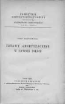 Ustawy amortyzacyjne w dawnej Polsce.