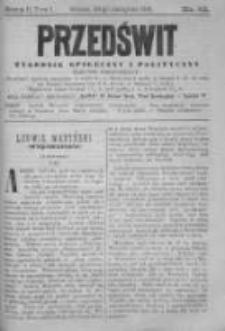 Przedświt 1891, Nr 22