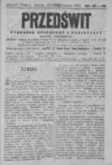 Przedświt 1892, Nr 37-38