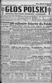Głos Polski : dziennik polityczny, społeczny i literacki 4 marzec 1927 nr 62