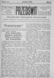 Przedświt 1895, Nr 8