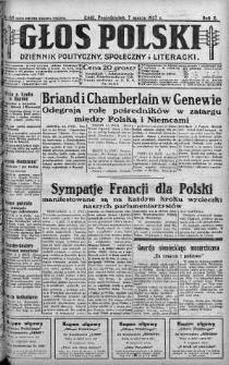 Głos Polski : dziennik polityczny, społeczny i literacki 7 marzec 1927 nr 65