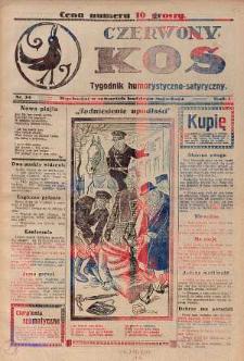 Czerwony Kos : gwiżdże co sobotę i wygwizduje wszystko 1931 nr 34